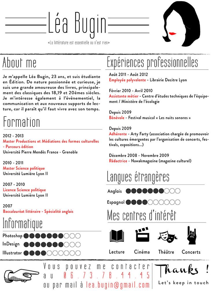 cv original graphique