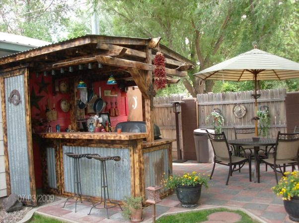 25+ best ideas about Rustic outdoor bar on Pinterest