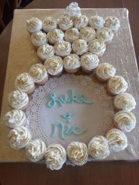 cute! cupcakes in the shape of an engagement ring ...