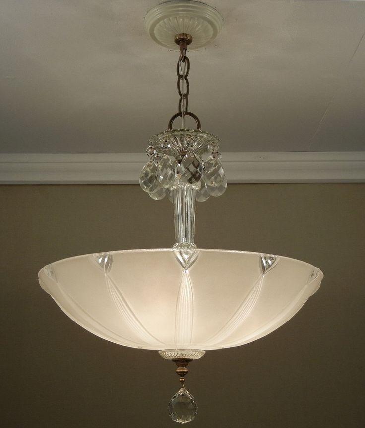 1000+ images about Vintage Art Deco Ceiling Lights on