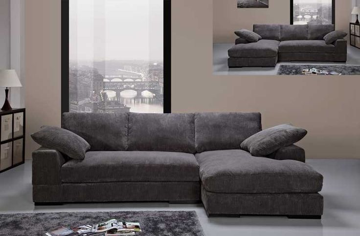Pinterest L Shaped Sofa Modern Charcoal Soft Fabric Sectional Sofa Couch