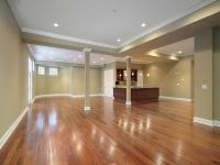 finished basement ideas on a budget - wood floor | Ideas ...