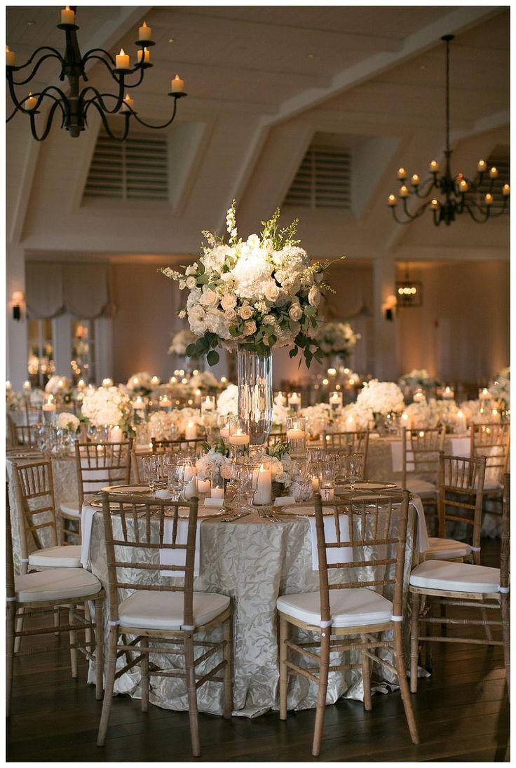 wedding reception decorations wedding decoration ideas 30 White Wedding Decoration Ideas