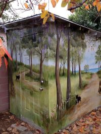 294 best images about Outdoor Garden Murals on Pinterest