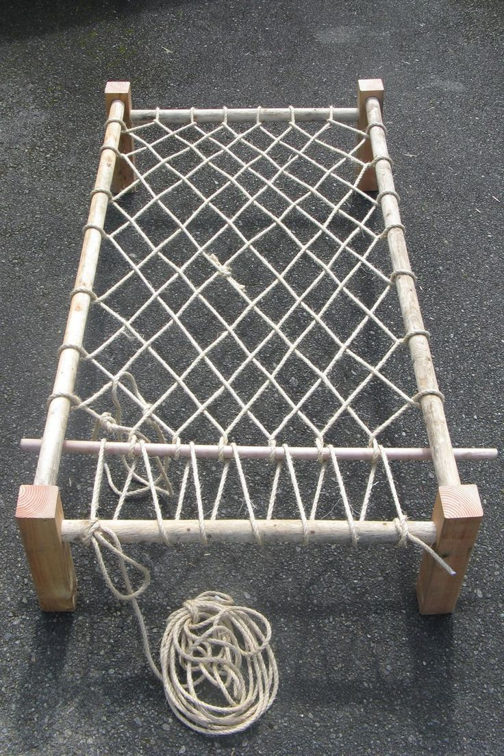 Outdoor Lounge Rope Good To Know A Rope Bed How To They Are Actually Very
