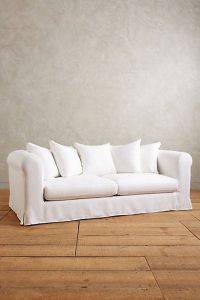 Basketweave Linen Novalie Slipcover Sofa | Furniture ...