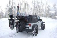 Jeep Wrangler Snowboard Tire Rack   2018 Dodge Reviews