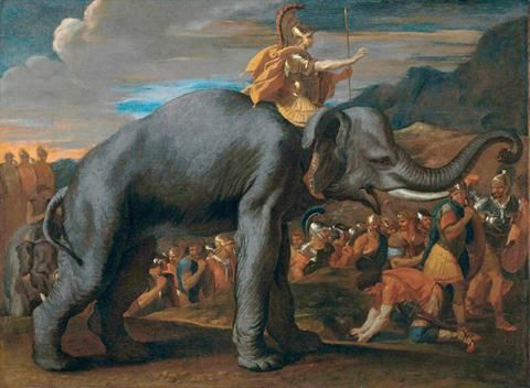 Black And White Pin Up Girl Wallpaper Nicolas Poussin Hannibal Crossing The Alps On A Elephant