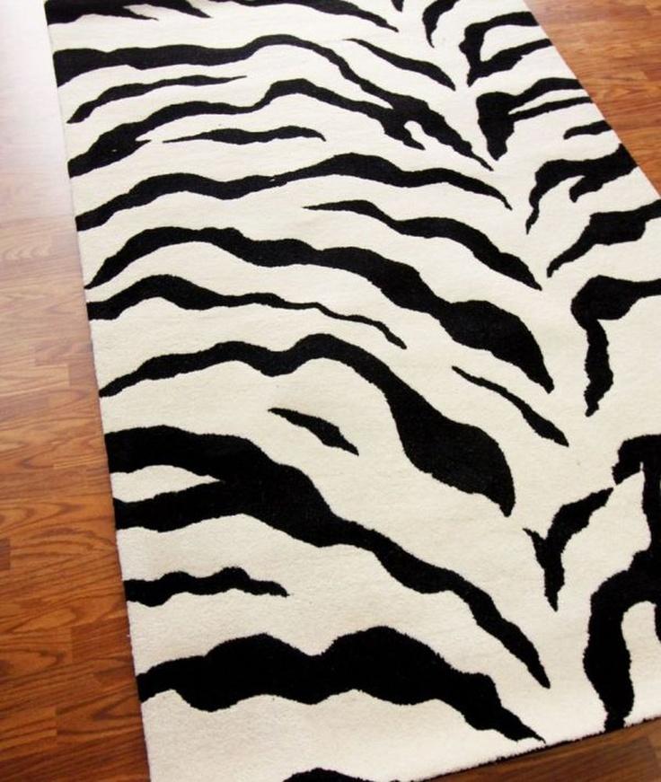 Zebra Throw Rug Home Decor
