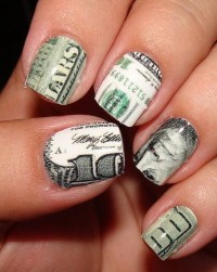 Photos - Bild - Galeria: PINK MONEY NAIL ART