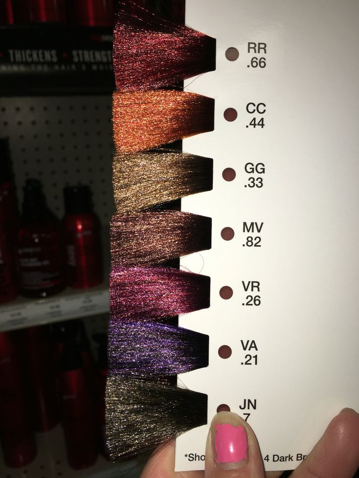 Curly Hair Length Chart Matrix Socolor High Impact Brunette Color Swatch Matrix