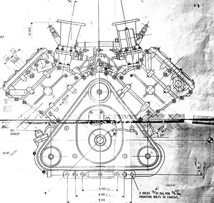 papercraft v8 engine diagram