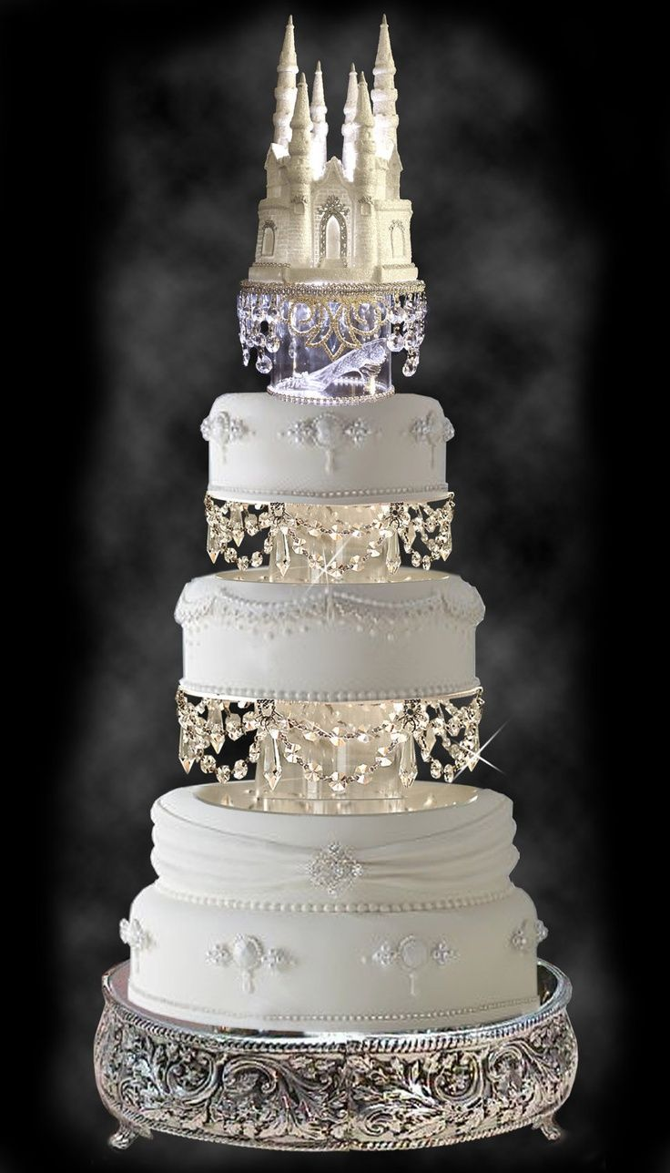 cinderella themed weddings cinderella wedding Gorgeous Wedding Cake with Swarovski Crystal Cinderella Castle Royal Wedding Cake Topper Do It Darling