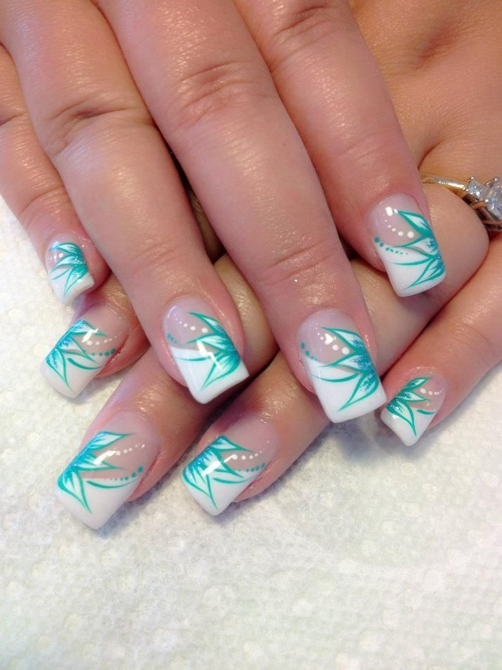 46 Awesome Wedding Aqua Nail Art Nail Art Pinterest