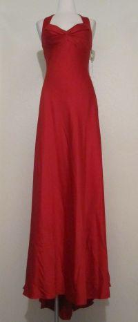 My prom dress senior year! Calvin Klein red satin gown ...