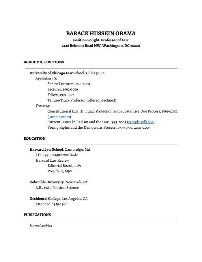 755 best 21st Century Miscellanea images on Pinterest - barack obama resume