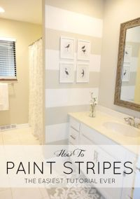 25+ best ideas about Striped bathroom walls on Pinterest