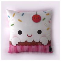 "12 x 12"" Cupcake Pillow, Stuffed Toy, Kids Room Decor ..."