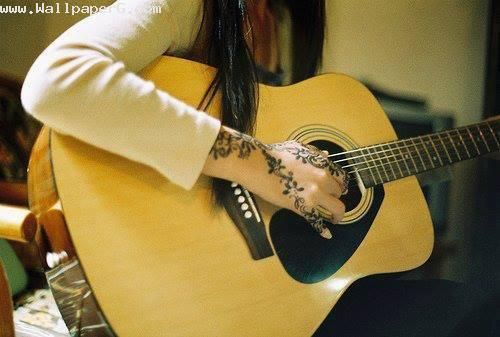 Guitar Wallpaper For Facebook Cover For Girls Quotes Girl Playing Guitar Love Wallpapers Pinterest