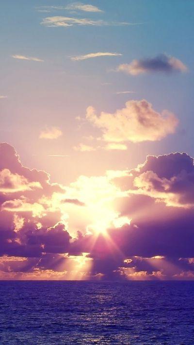 Ocean Sunset Rays Clouds iPhone 5 Wallpaper.jpg 640×1,136 pixels | Bucket list! | Pinterest ...