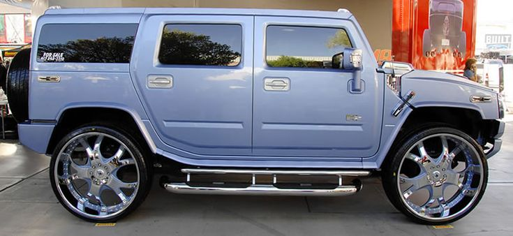 Pimped Out Cars Wallpapers Pimped Out Trucks H2 Hummer With Gigantic 30 Quot Rims