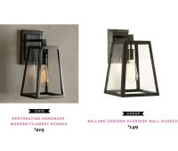 Restoration Hardware Modern Filament Sconce $219 |vs ...