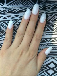 Cute white oval nails | NAILED IT | Pinterest | Nails ...
