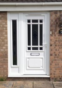 exterior side doors with glass