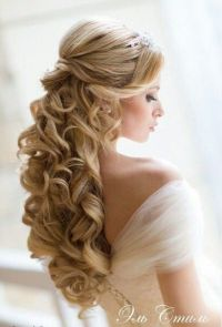 Half up Half down Wedding Hair Curls | Hair