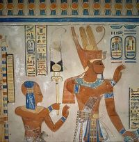 Egyptian wall painting in the tomb of Amen-hor-khepeshef ...