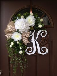 1000+ ideas about Initial Door Wreaths on Pinterest ...