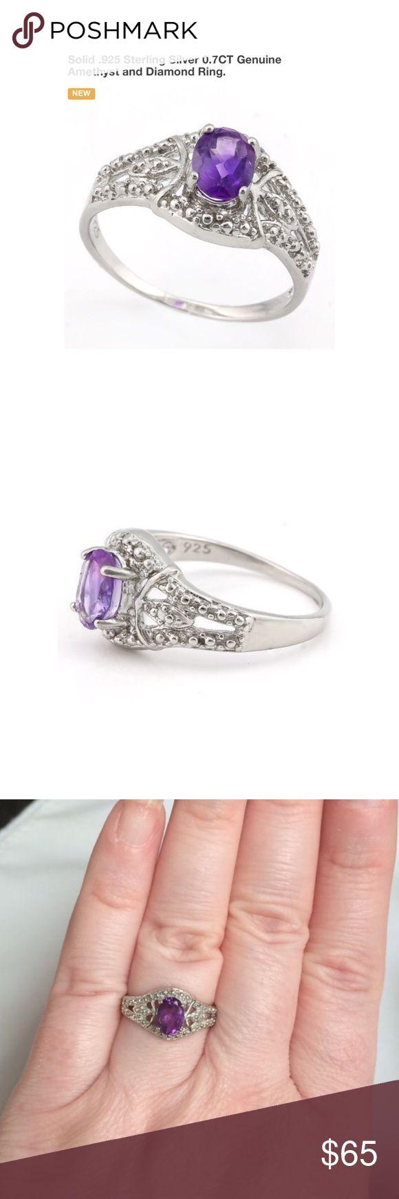 diamond ring price wedding ring Size 7 Genuine Amethyst Diamond Ring Boutique