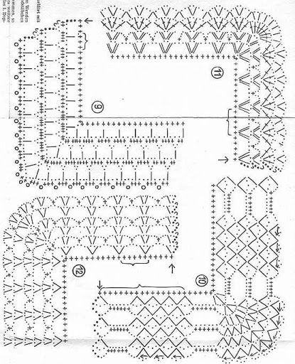 nice crochet stitch diagram granny motif pinterest