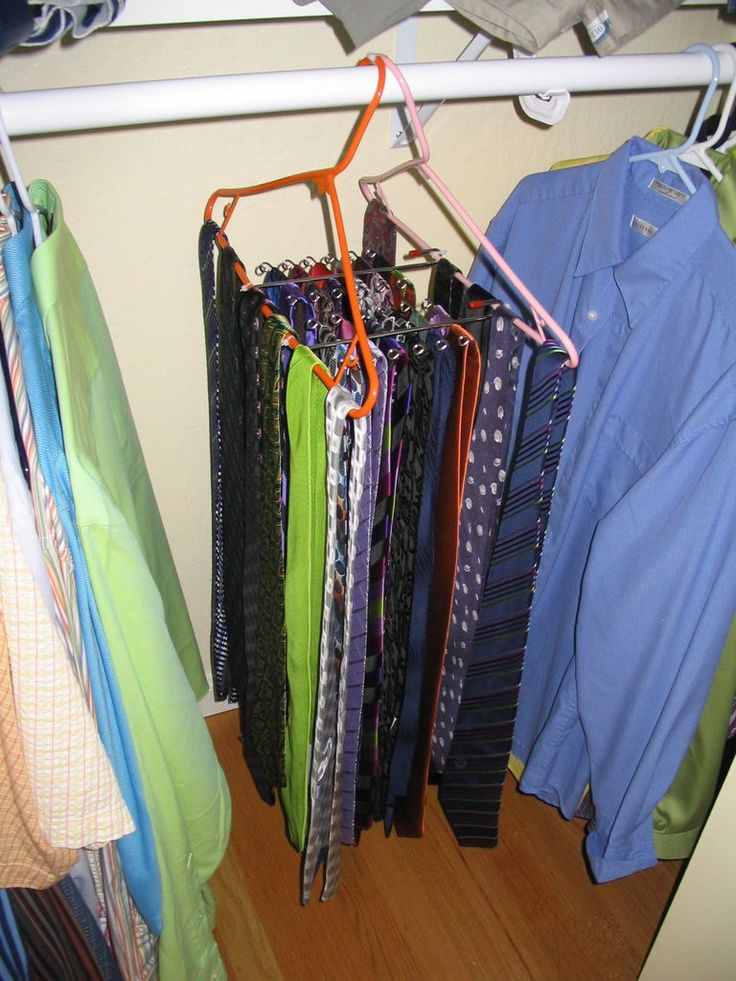 Modified Tie Rack Cable Neckties And Organizers