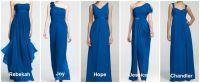David's Bridal Horizon Blue Bridesmaid Dresses ...