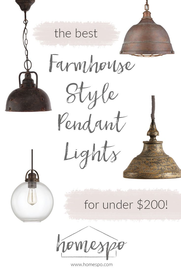 kitchen pendants farmhouse kitchen lights Click through to shop my favorite farmhouse style pendant lights all are under