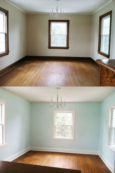 Painting Trim, a Before and After | Nice, The o'jays and Painting trim
