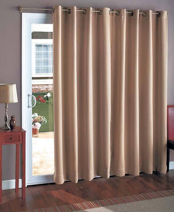 25+ best ideas about Sliding door curtains on Pinterest
