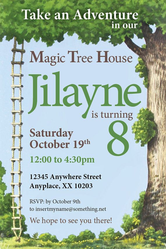 44 Best Images About Magic Tree House Birthday Party On