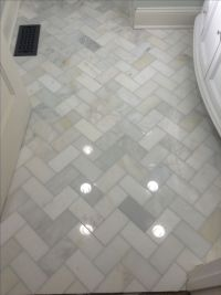 Herringbone marble Bathroom floor | Home Decor | Pinterest ...