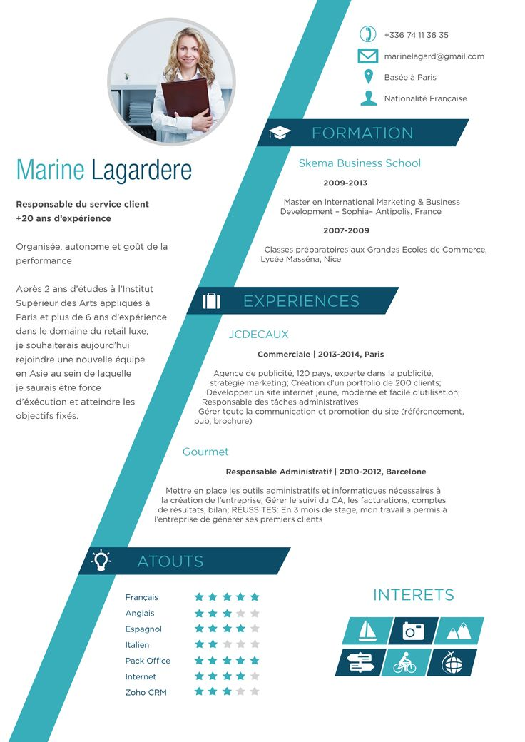 cv graphique en word