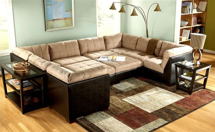 10 piece modular pit group sectional couch