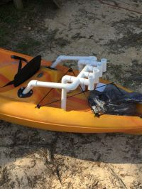 "Diy PVC rod holder for kayak fishing made for 1"" thin wall ..."