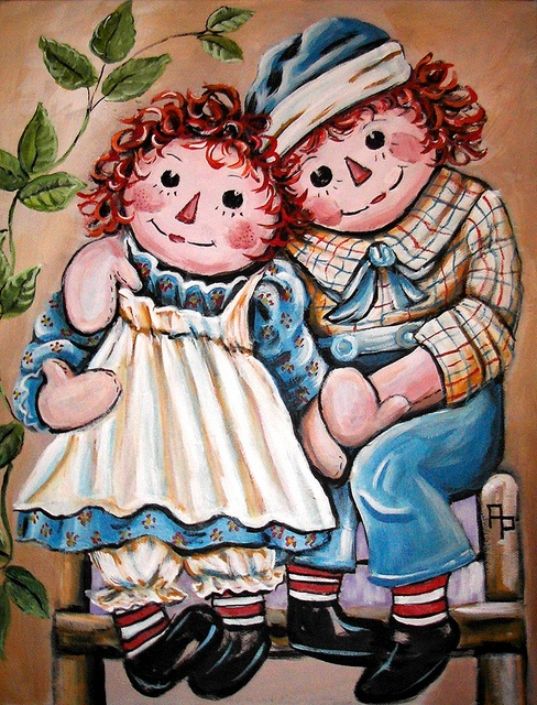 Baby Girl Shoes Wallpaper Raggedy Ann Amp Andy Painting Acrylics On Canvas