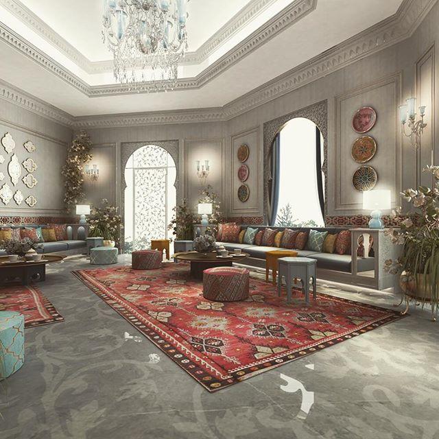 Moroccan Sitting area design