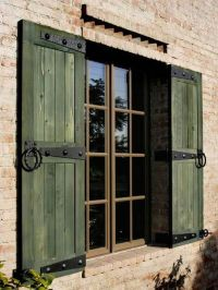 green rustic shutters | outdoor living area | Pinterest ...