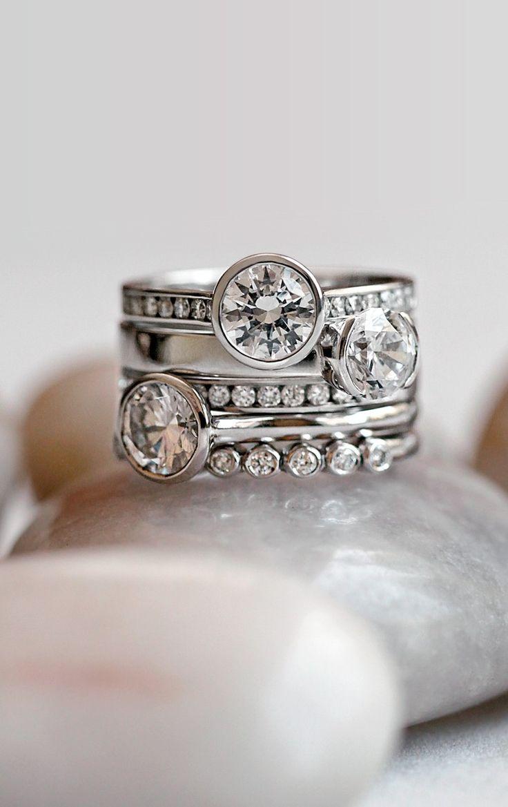 w e d d i n g brilliant earth wedding bands White Gold Luxe Luna Diamond Ring BrilliantEarth