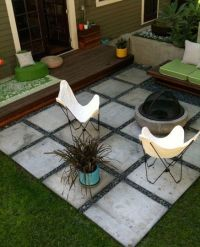 cement paver patio - inexpensive and can be temporary ...