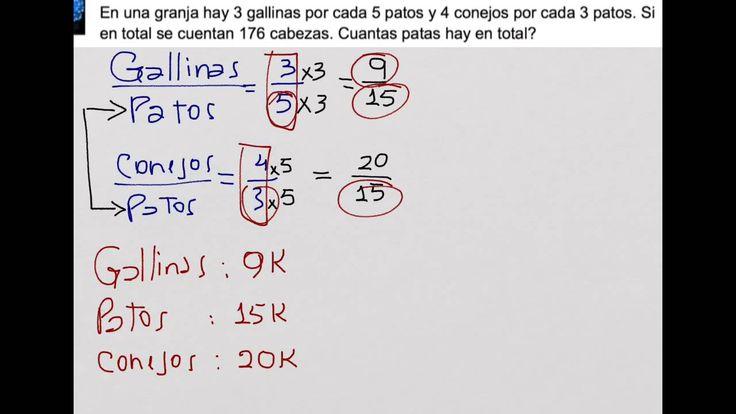 Razones Y Proporciones Planteo De Ecuaciones Matemática