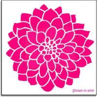 "Large Dahlia Flower Decal 23"""